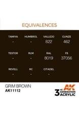 AK Interactive 3RD GEN ACRYLIC GRIM BROWN 17ML