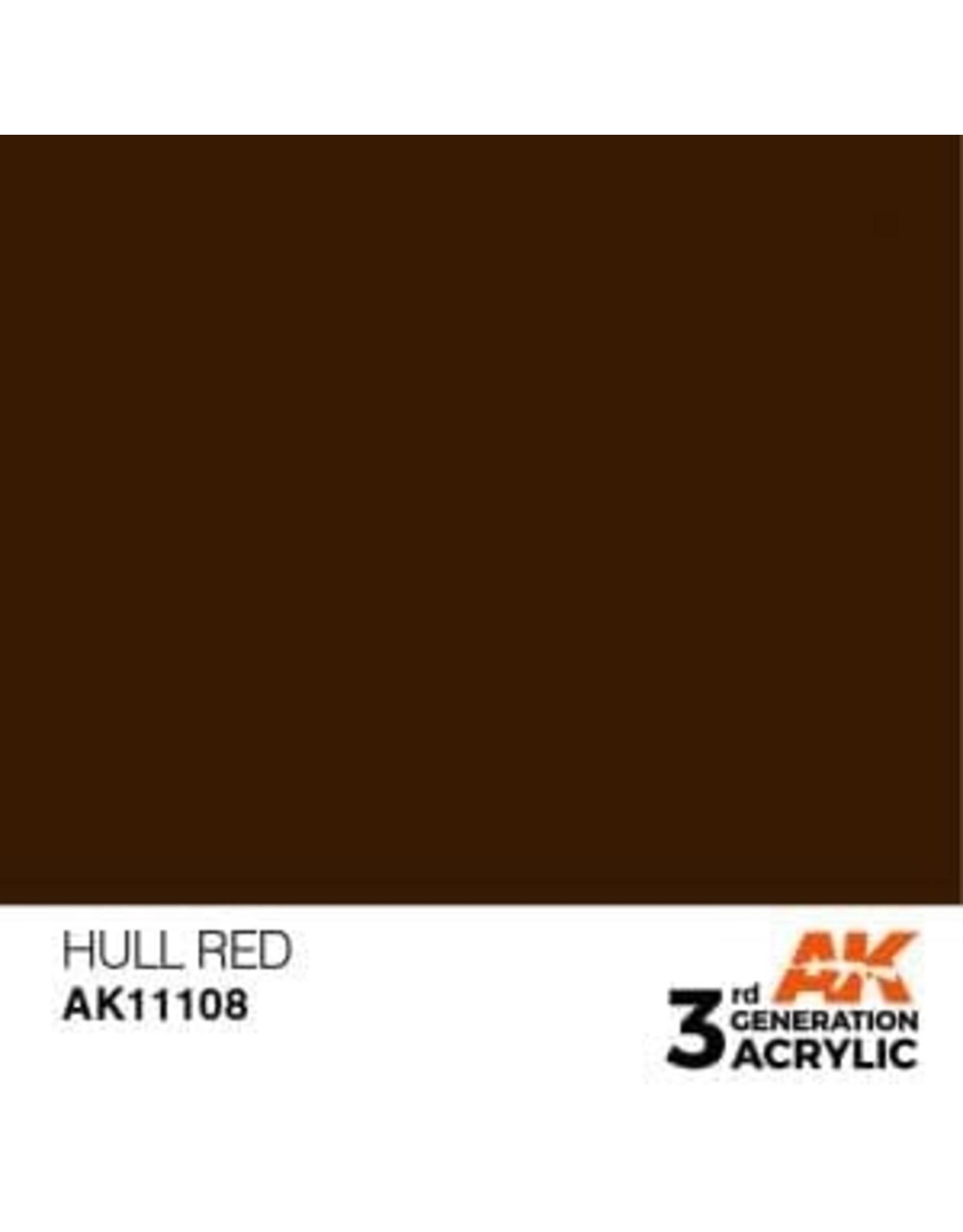 AK Interactive 3RD GEN ACRYLIC HULL RED 17ML