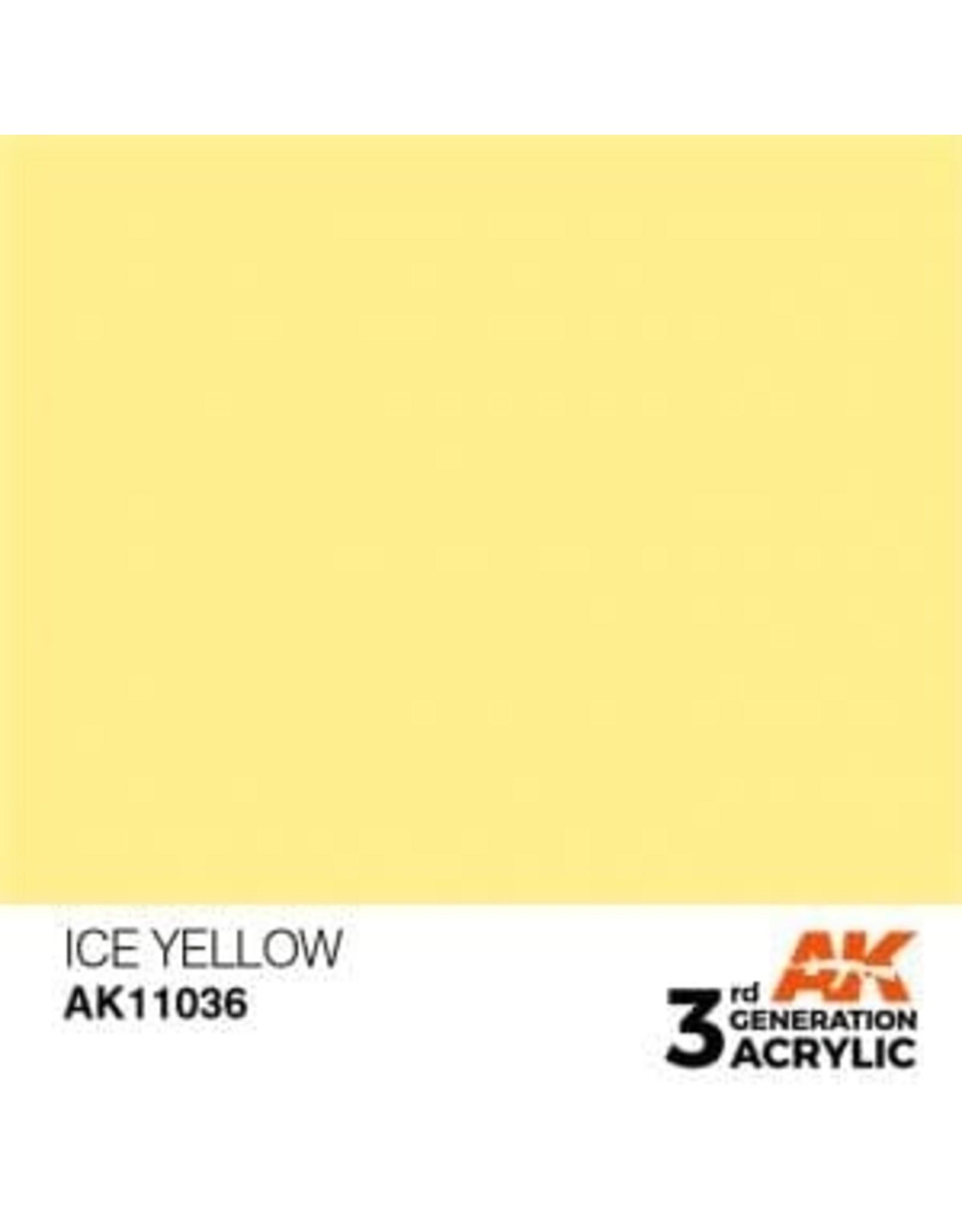 AK Interactive 3RD GEN ACRYLIC ICE YELLOW 17ML