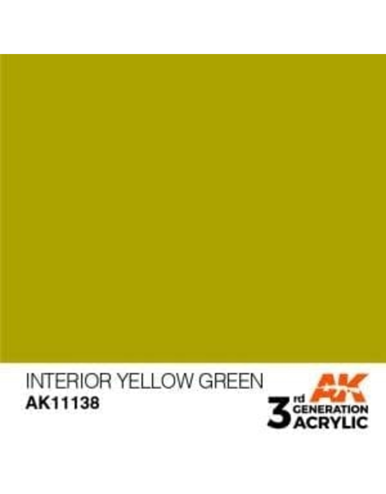 AK Interactive 3RD GEN ACRYLIC INTERIOR YELLOW GREEN 17ML