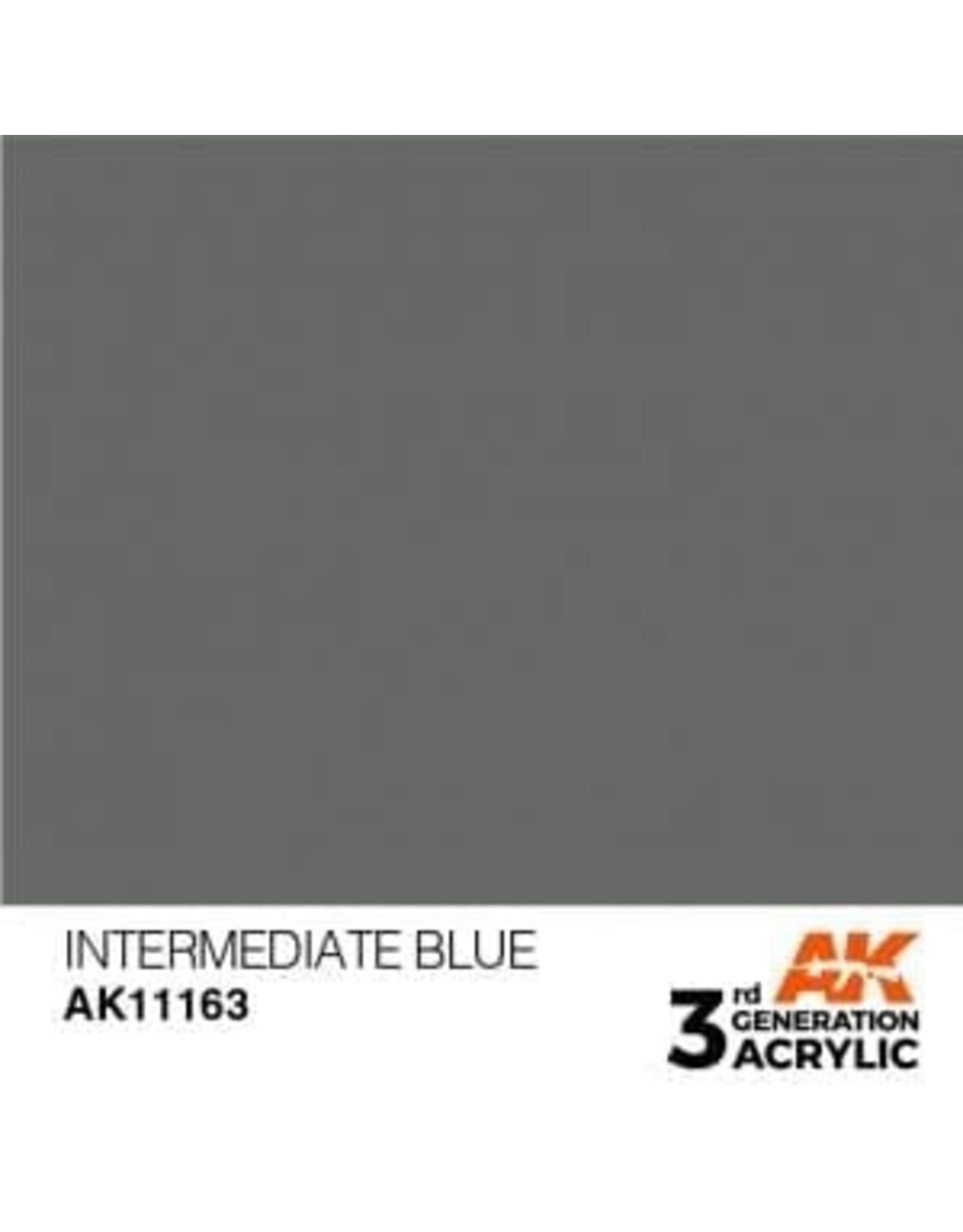 AK Interactive 3RD GEN ACRYLIC INTERMEDIATE BLUE 17ML
