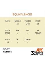 AK Interactive 3RD GEN ACRYLIC IVORY 17ML