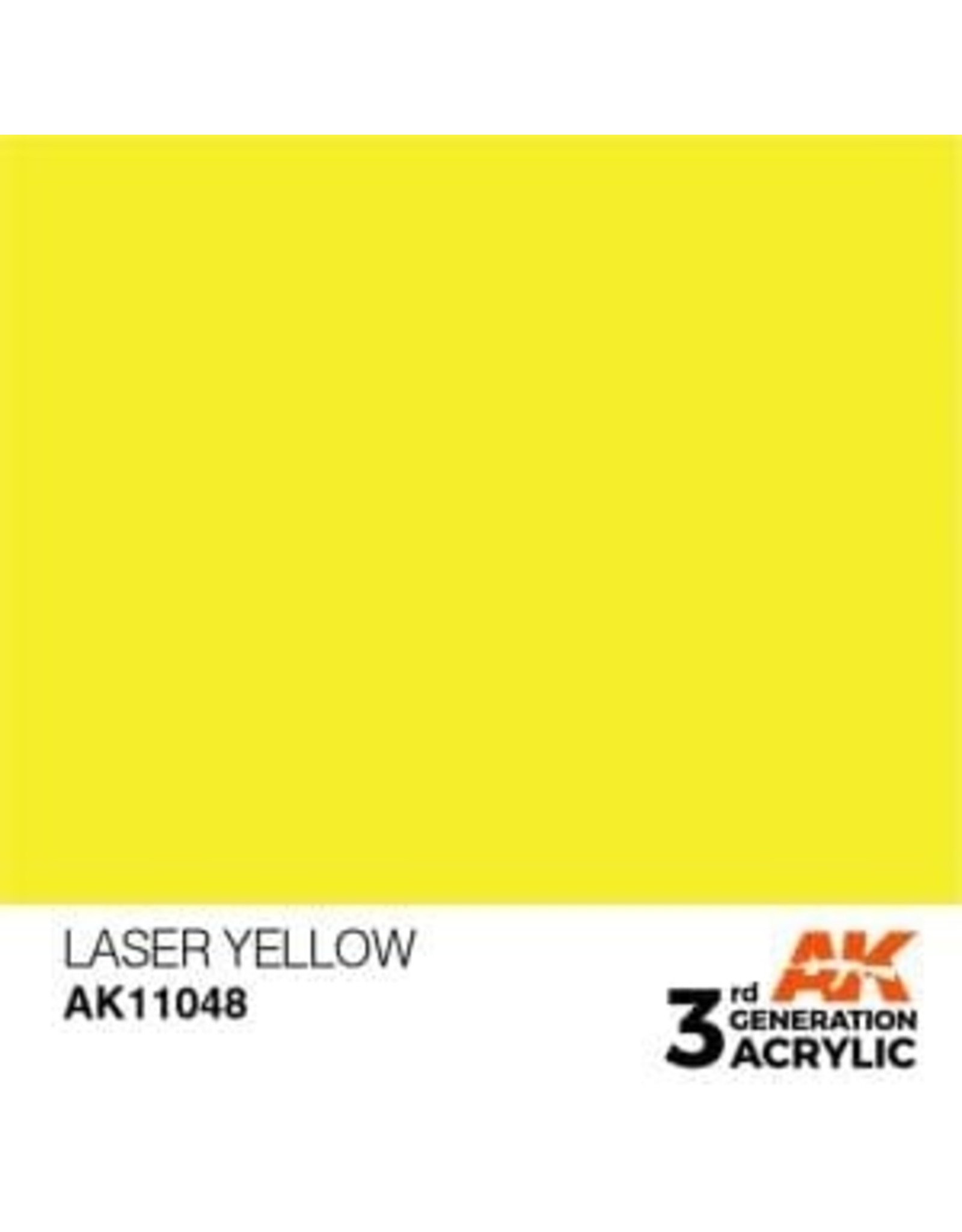 AK Interactive 3RD GEN ACRYLIC LASER YELLOW 17ML