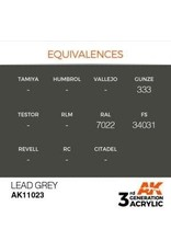 AK Interactive 3RD GEN ACRYLIC LEAD GREY 17ML