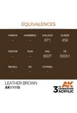 AK Interactive 3RD GEN ACRYLIC LEATHER BROWN 17ML