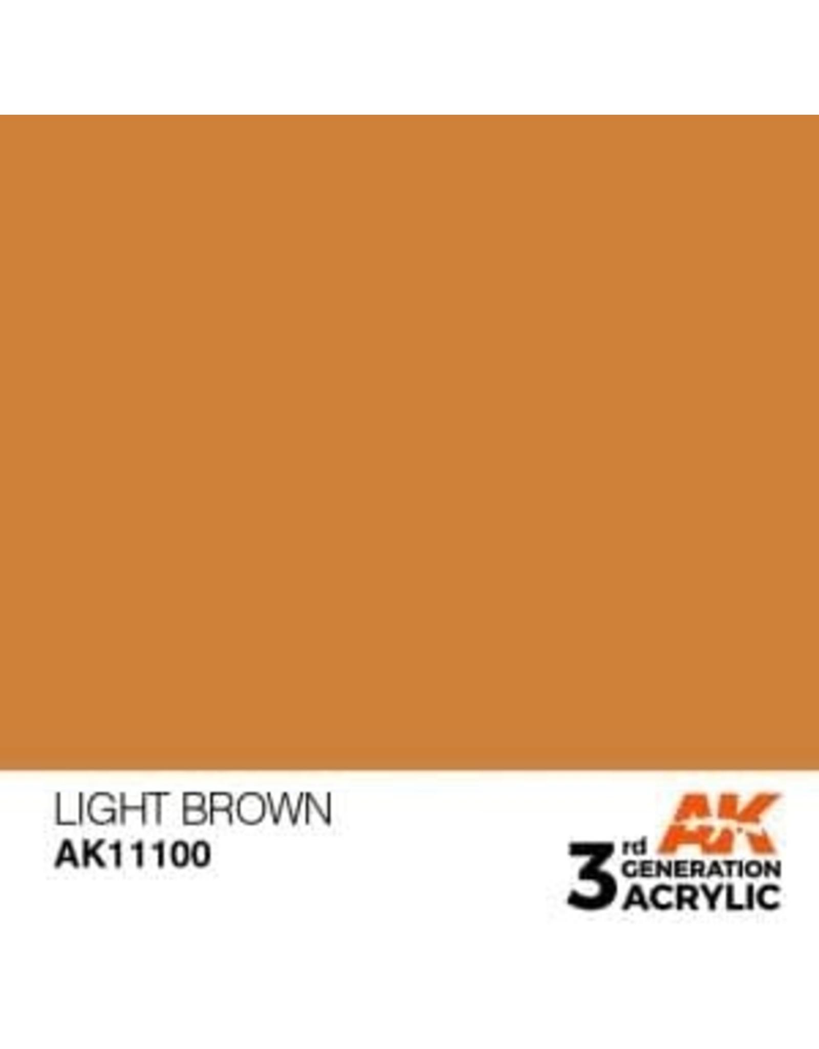 AK Interactive 3RD GEN ACRYLIC LIGHT BROWN 17ML