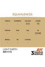 AK Interactive 3RD GEN ACRYLIC LIGHT EARTH 17ML