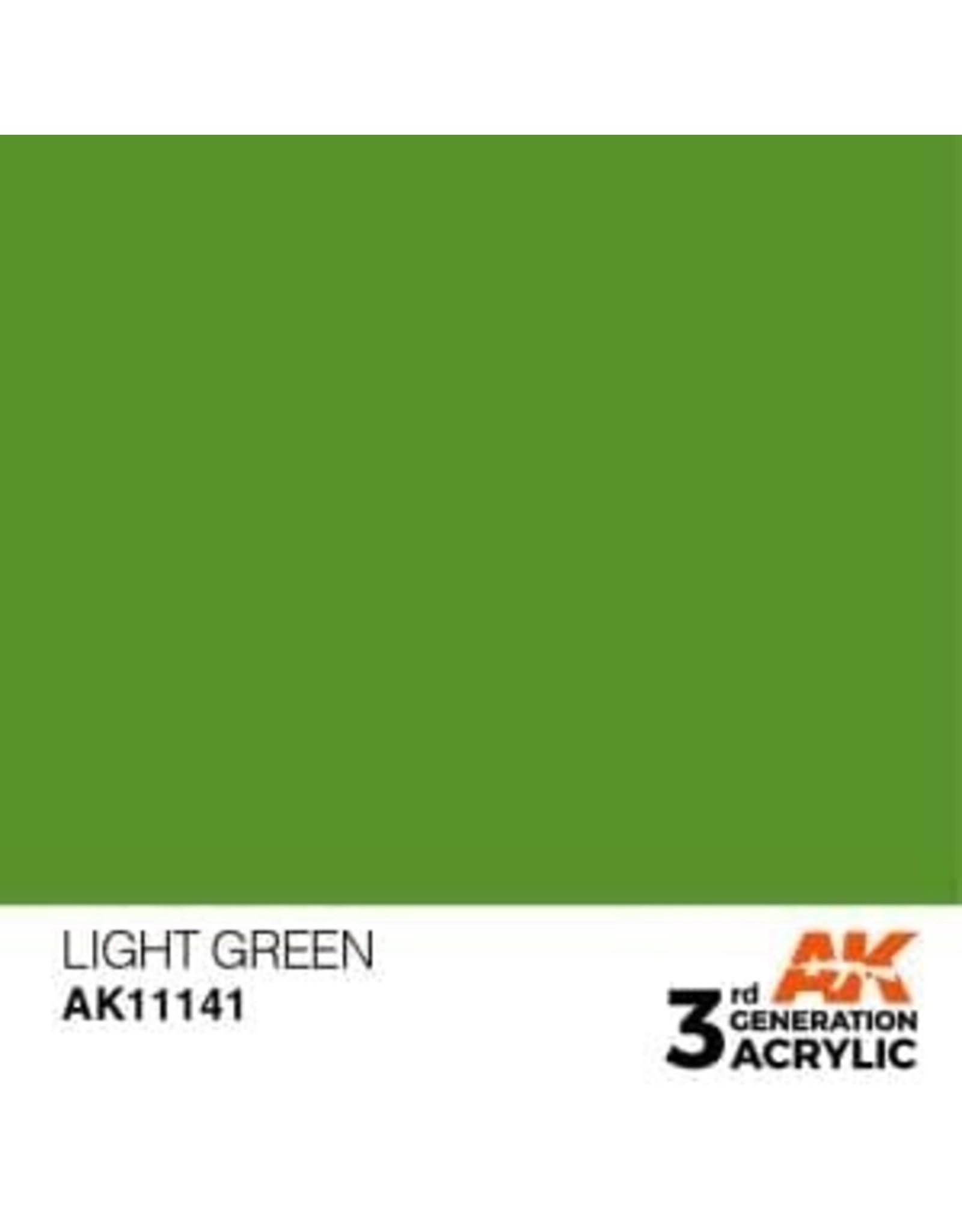 AK Interactive 3RD GEN ACRYLIC LIGHT GREEN 17ML