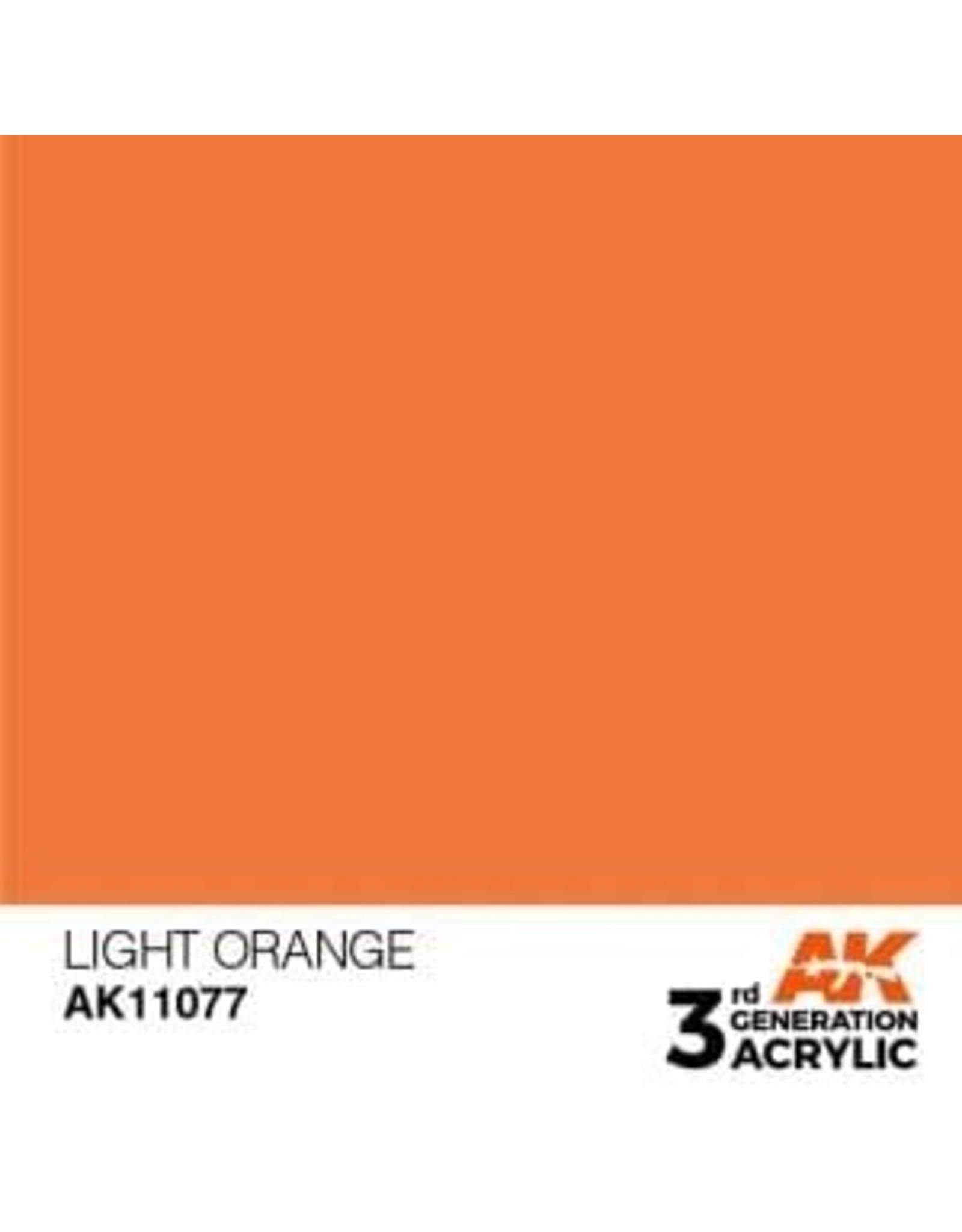 AK Interactive 3RD GEN ACRYLIC LIGHT ORANGE 17ML