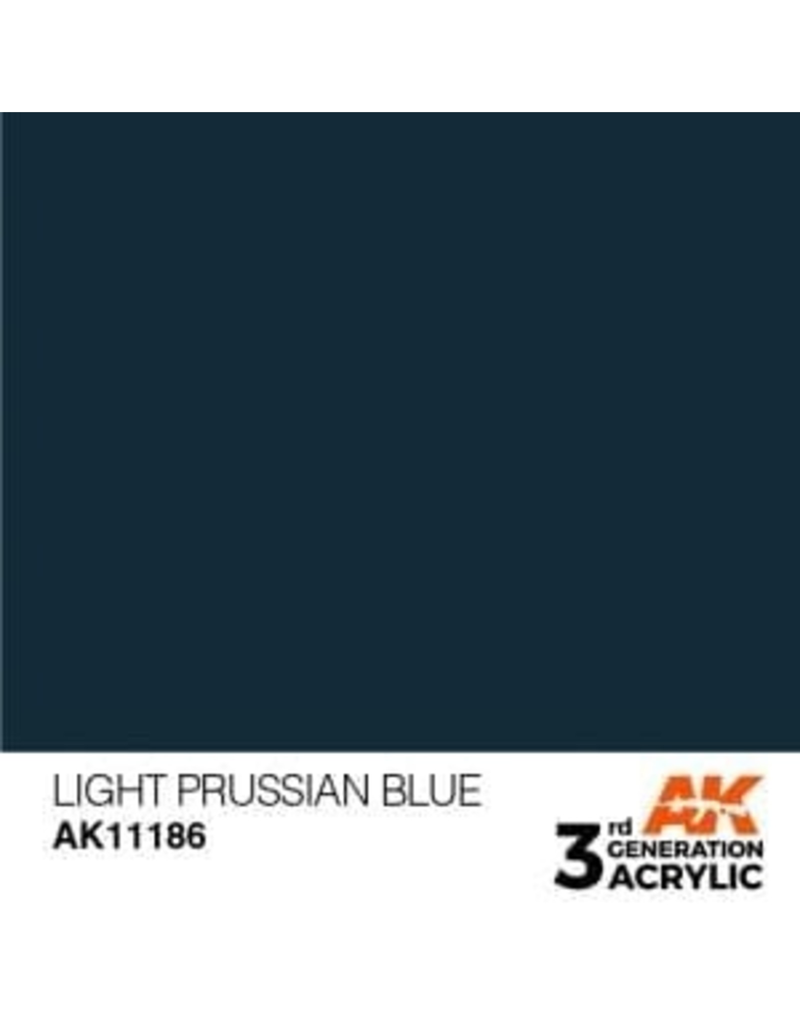 AK Interactive 3RD GEN ACRYLIC LIGHT PRUSSIAN BLUE 17ML