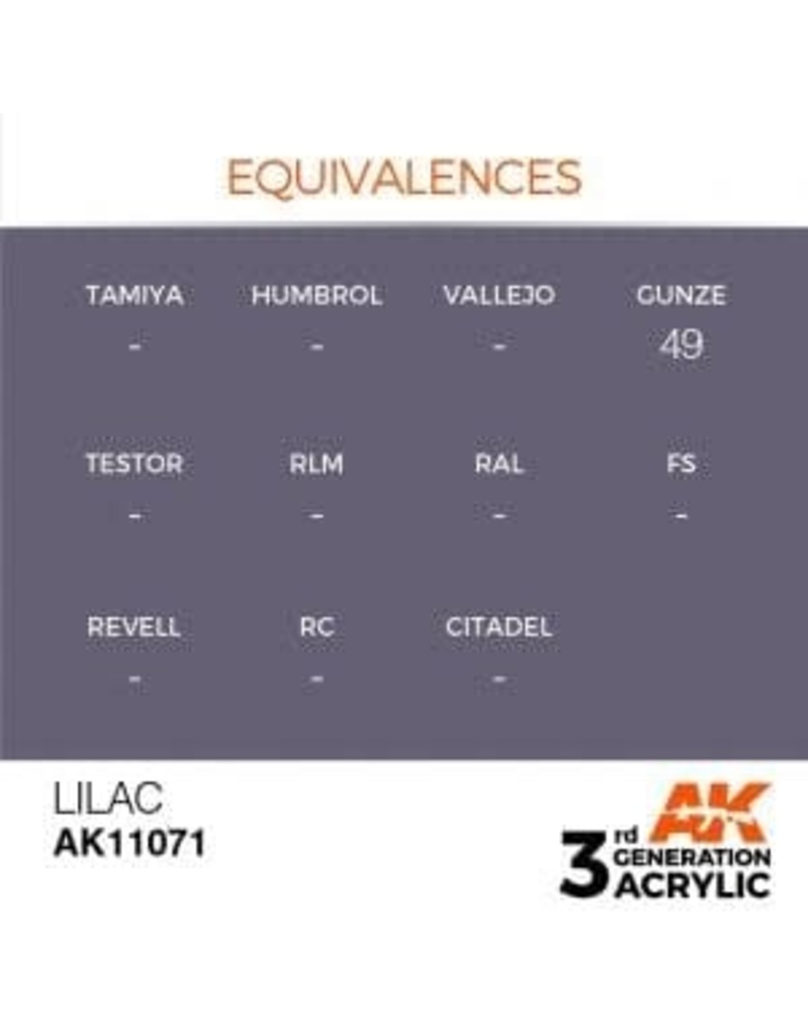 AK Interactive 3RD GEN ACRYLIC LILAC 17ML