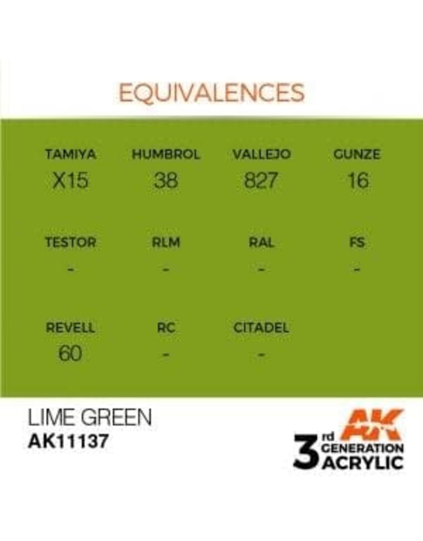 AK Interactive 3RD GEN ACRYLIC LIME GREEN 17ML