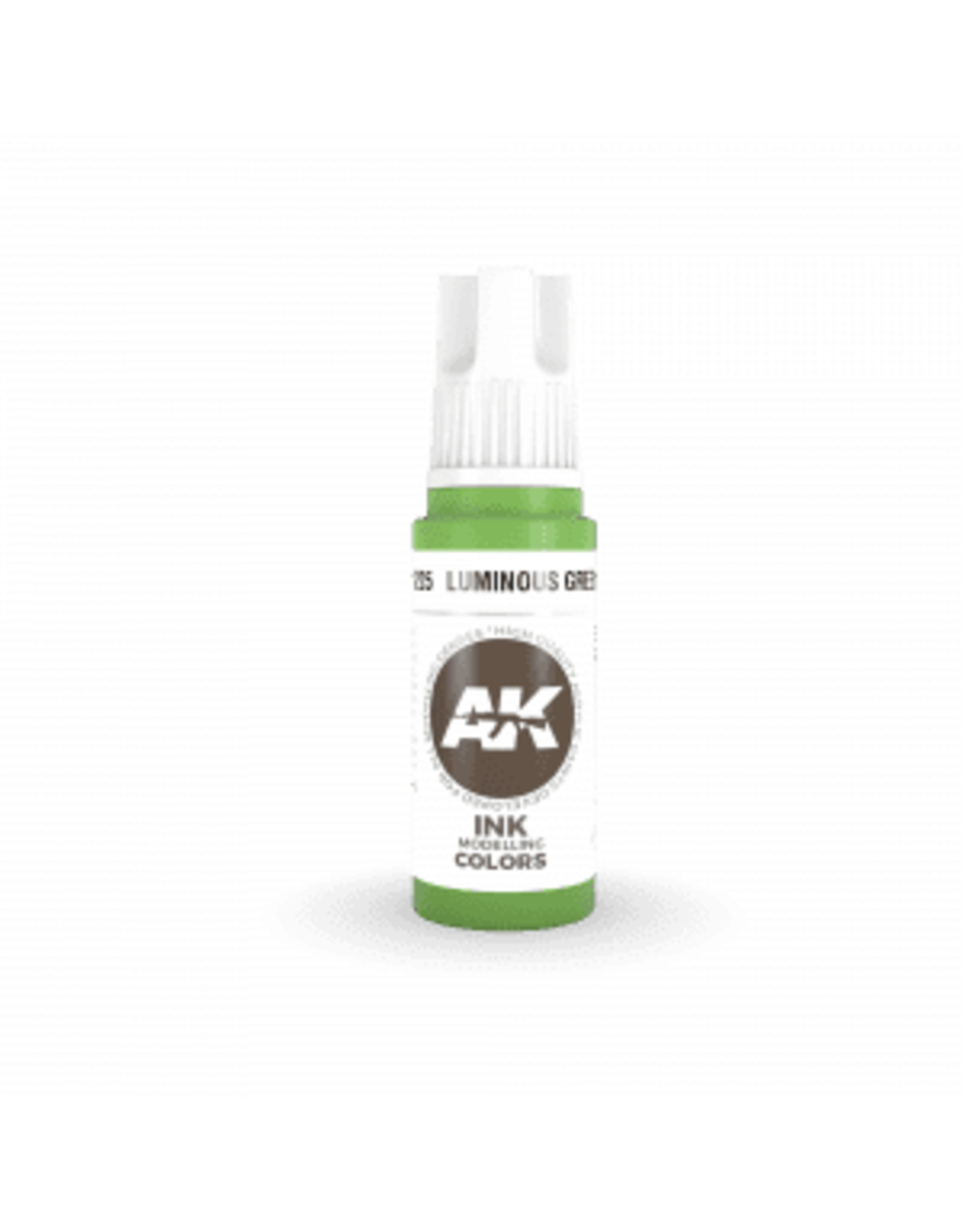 AK Interactive 3RD GEN ACRYLIC LUMINOUS GREEN INK 17ML