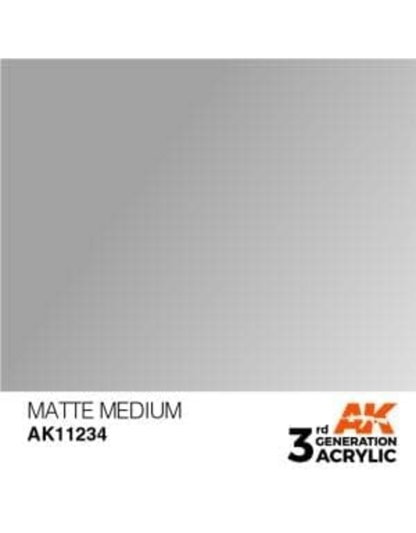 AK Interactive 3RD GEN ACRYLIC MATTE MEDIUM 17ML