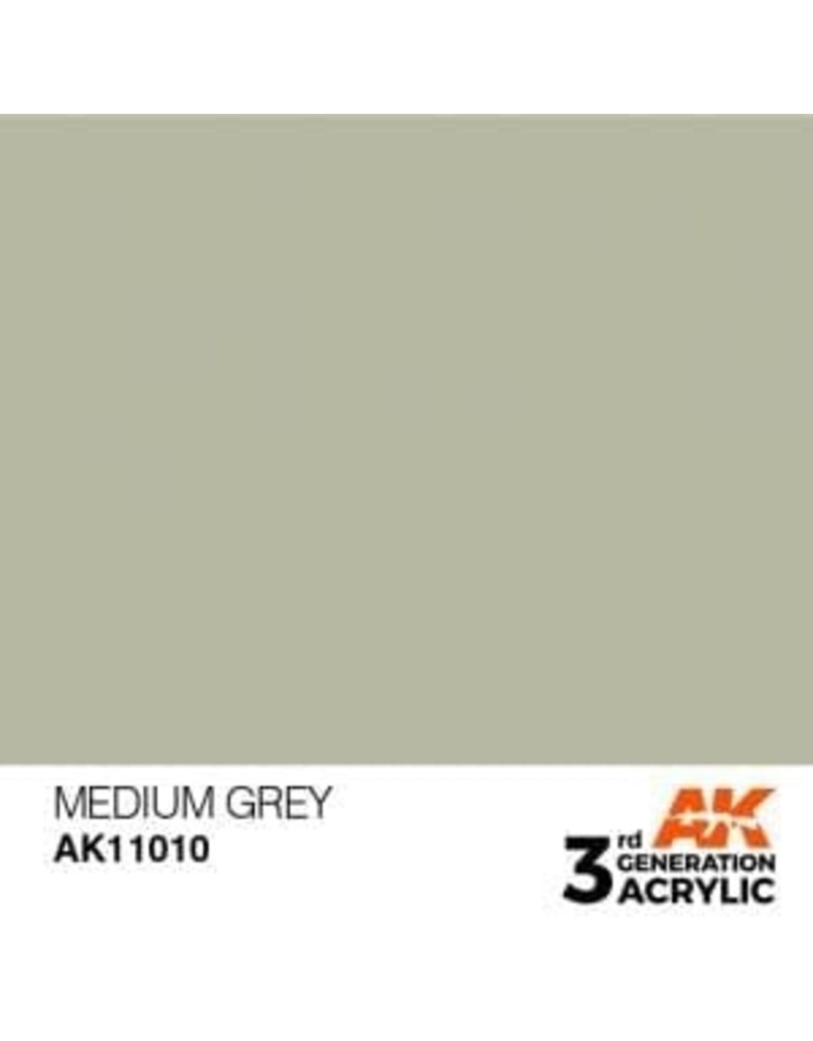 AK Interactive 3RD GEN ACRYLIC MEDIUM GREY 17ML