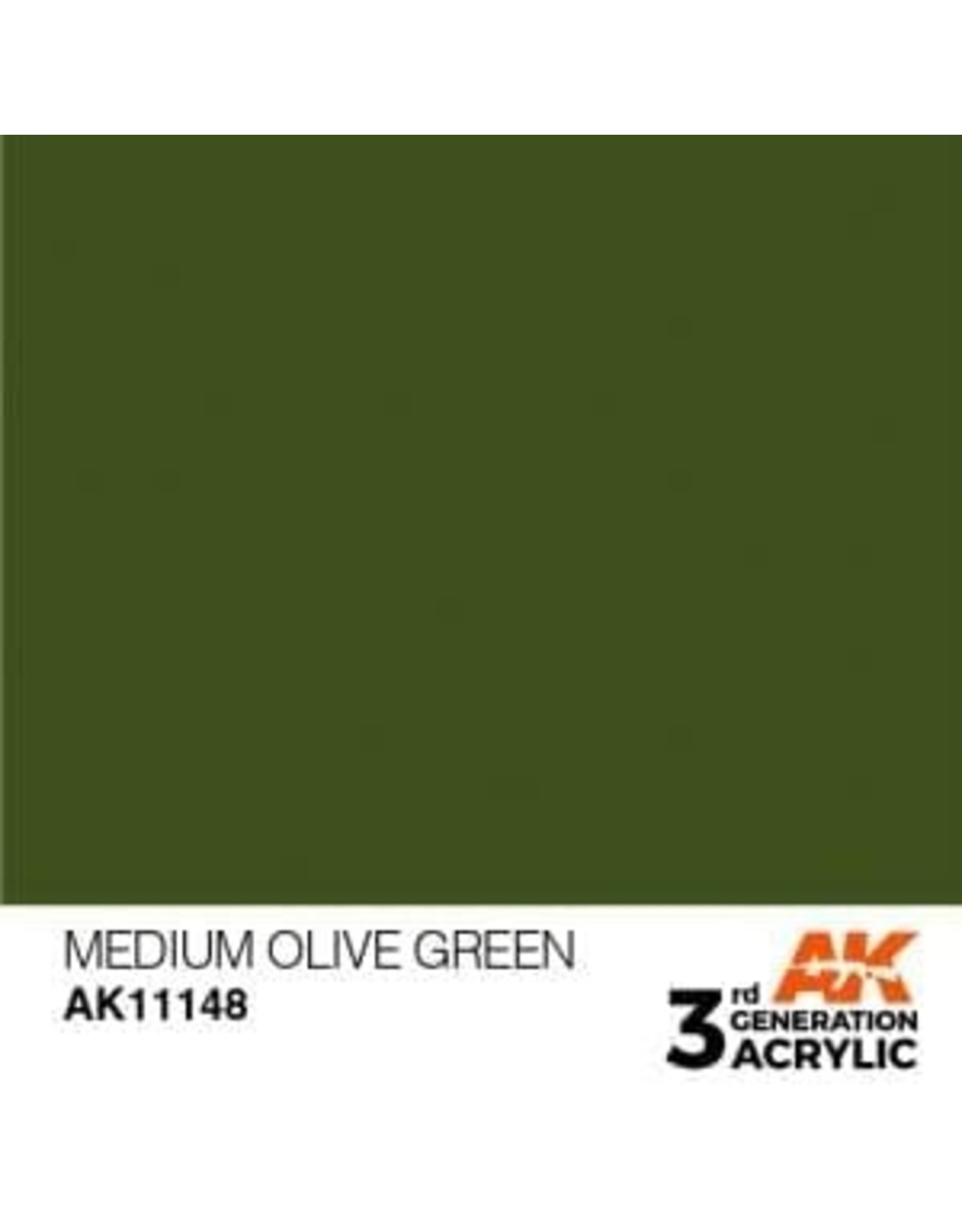 AK Interactive 3RD GEN ACRYLIC MEDIUM OLIVE GREEN 17ML
