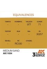 AK Interactive 3RD GEN ACRYLIC MEDIUM SAND 17ML