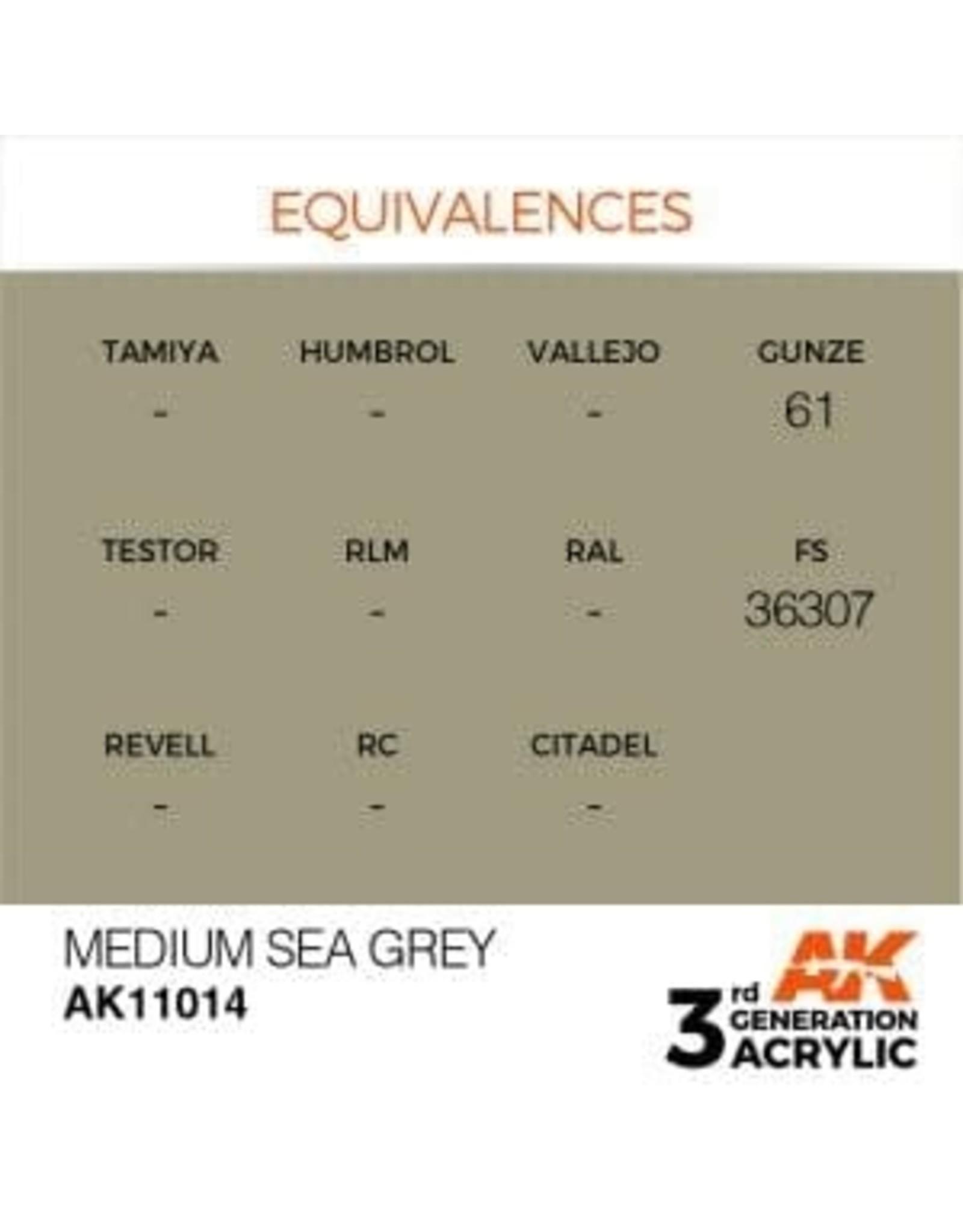 AK Interactive 3RD GEN ACRYLIC MEDIUM SEA GREY 17ML