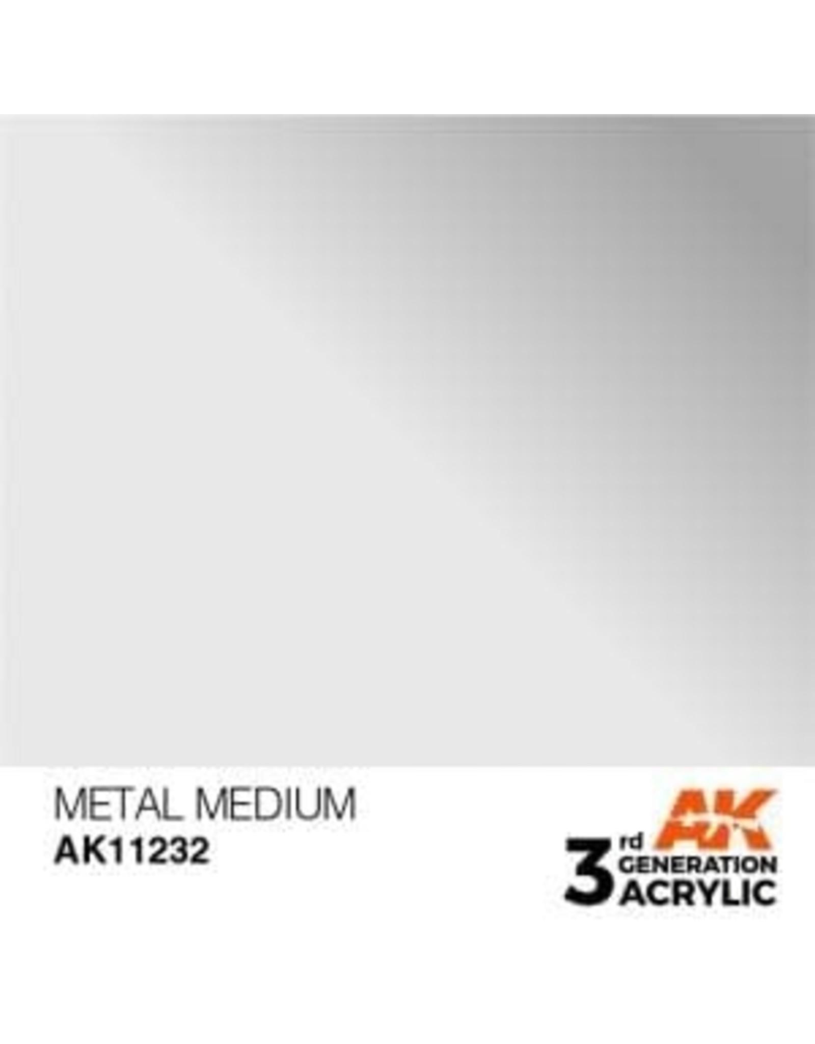 AK Interactive 3RD GEN ACRYLIC METAL MEDIUM 17ML