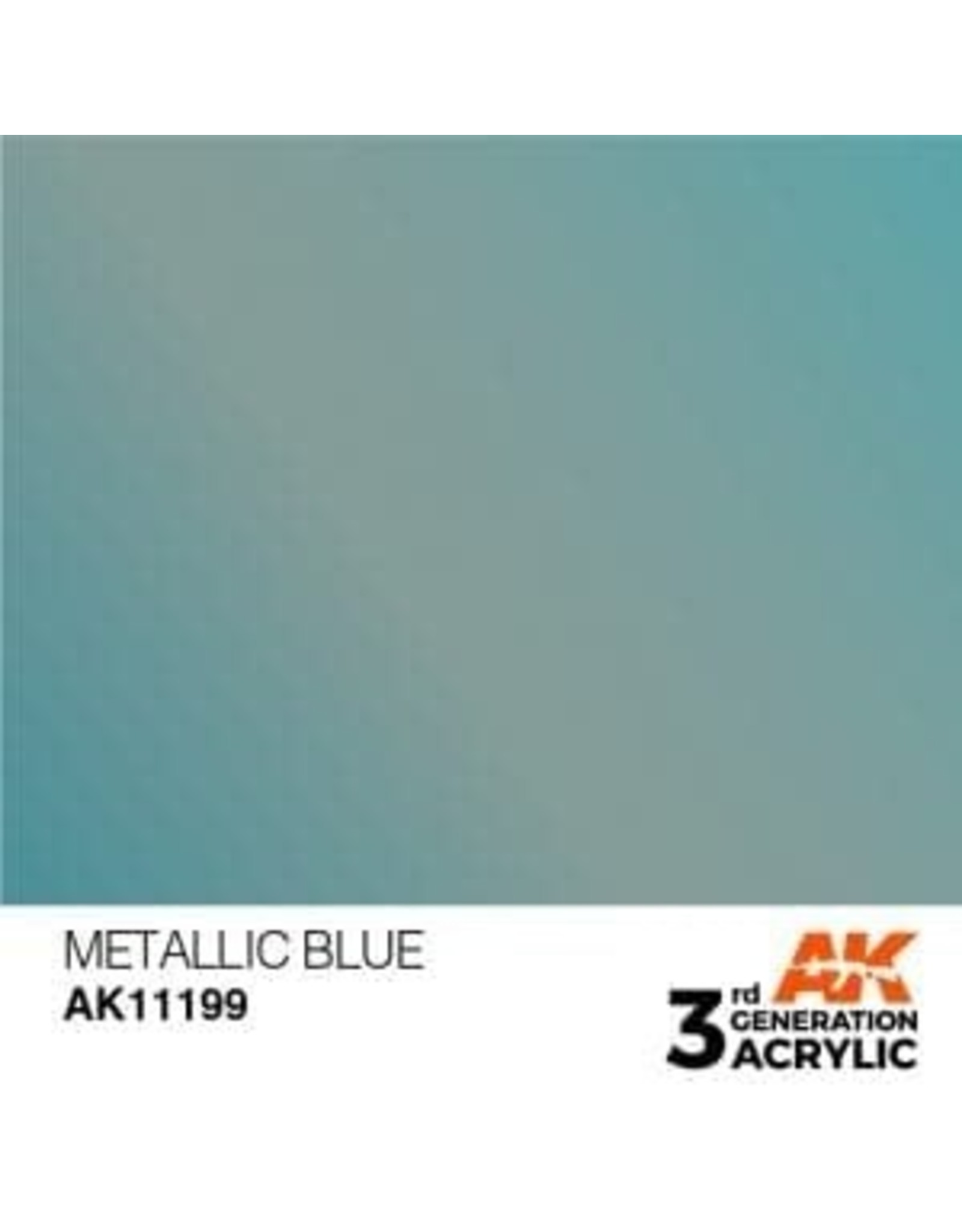 AK Interactive 3RD GEN ACRYLIC METALLIC BLUE 17ML