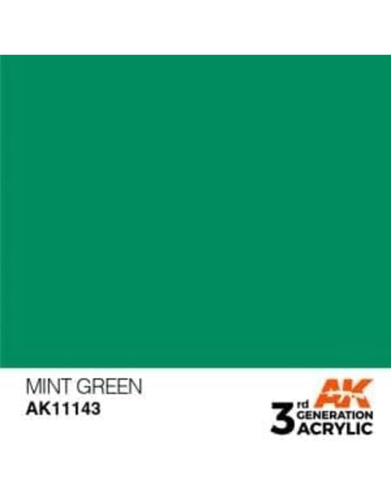 AK Interactive 3RD GEN ACRYLIC MINT GREEN 17ML
