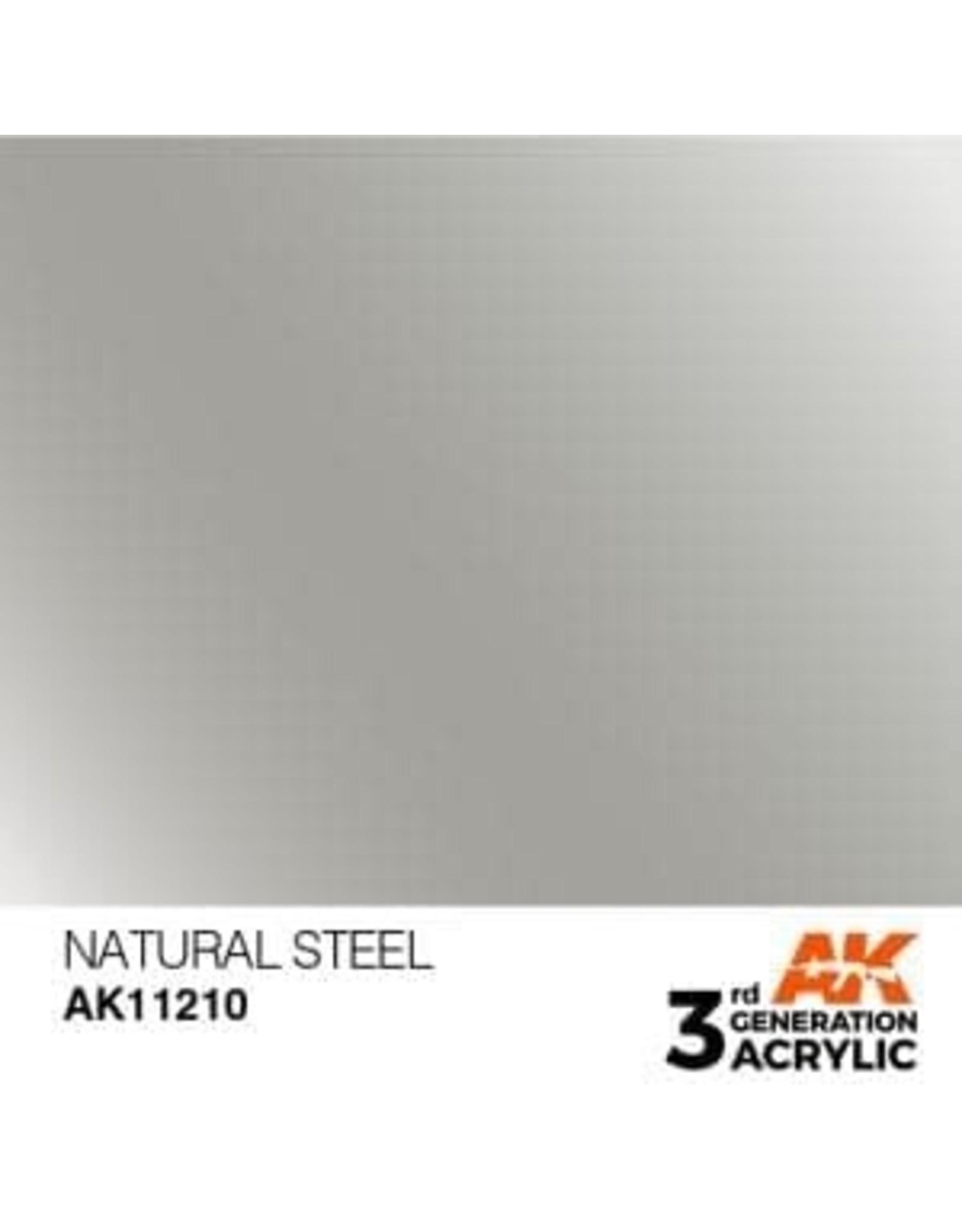 AK Interactive 3RD GEN ACRYLIC NATURAL STEEL 17ML
