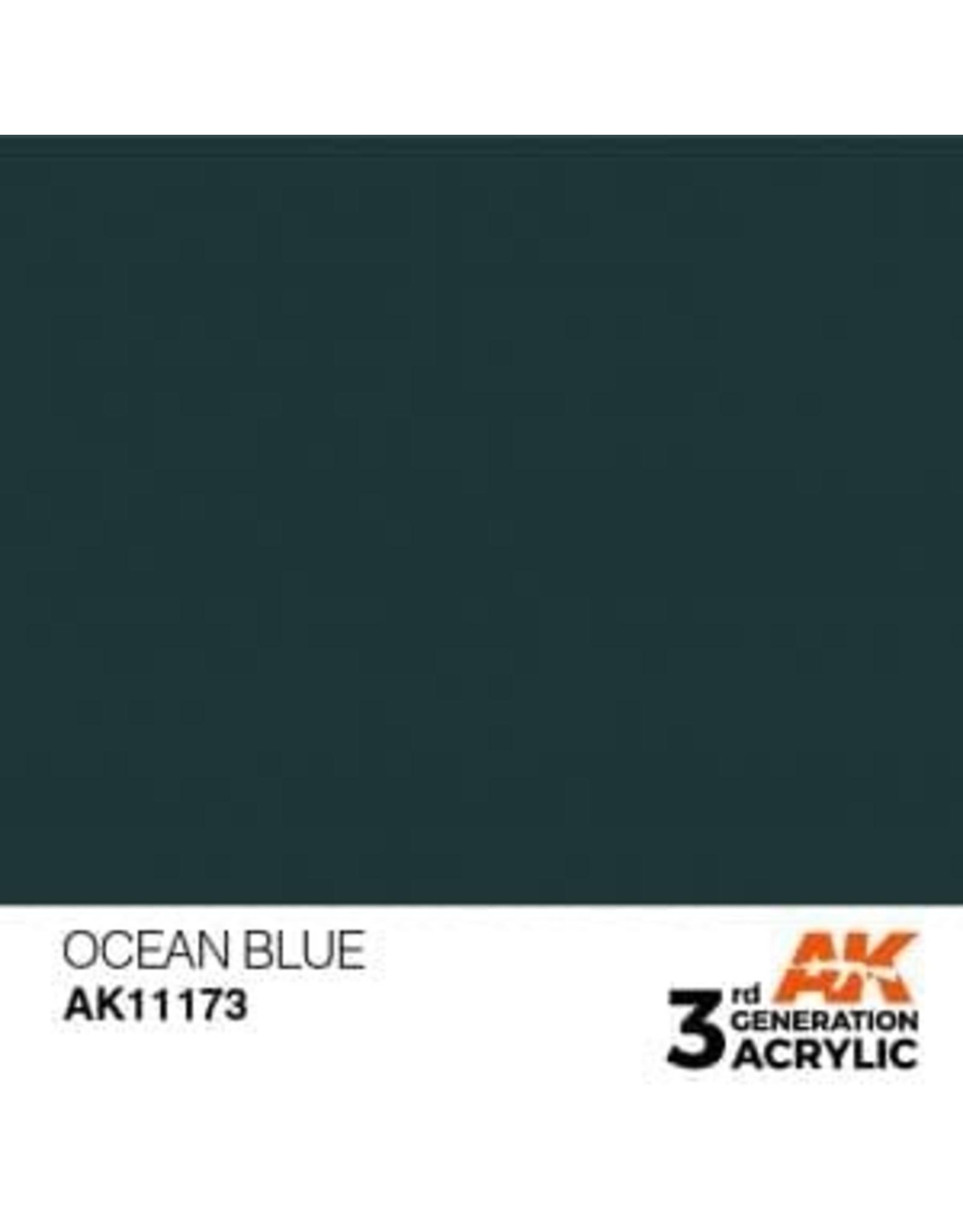 AK Interactive 3RD GEN ACRYLIC OCEAN BLUE 17ML