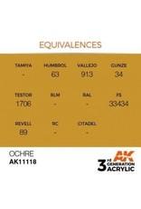 AK Interactive 3RD GEN ACRYLIC OCHER 17ML