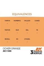AK Interactive 3RD GEN ACRYLIC OCHER ORANGE 17ML
