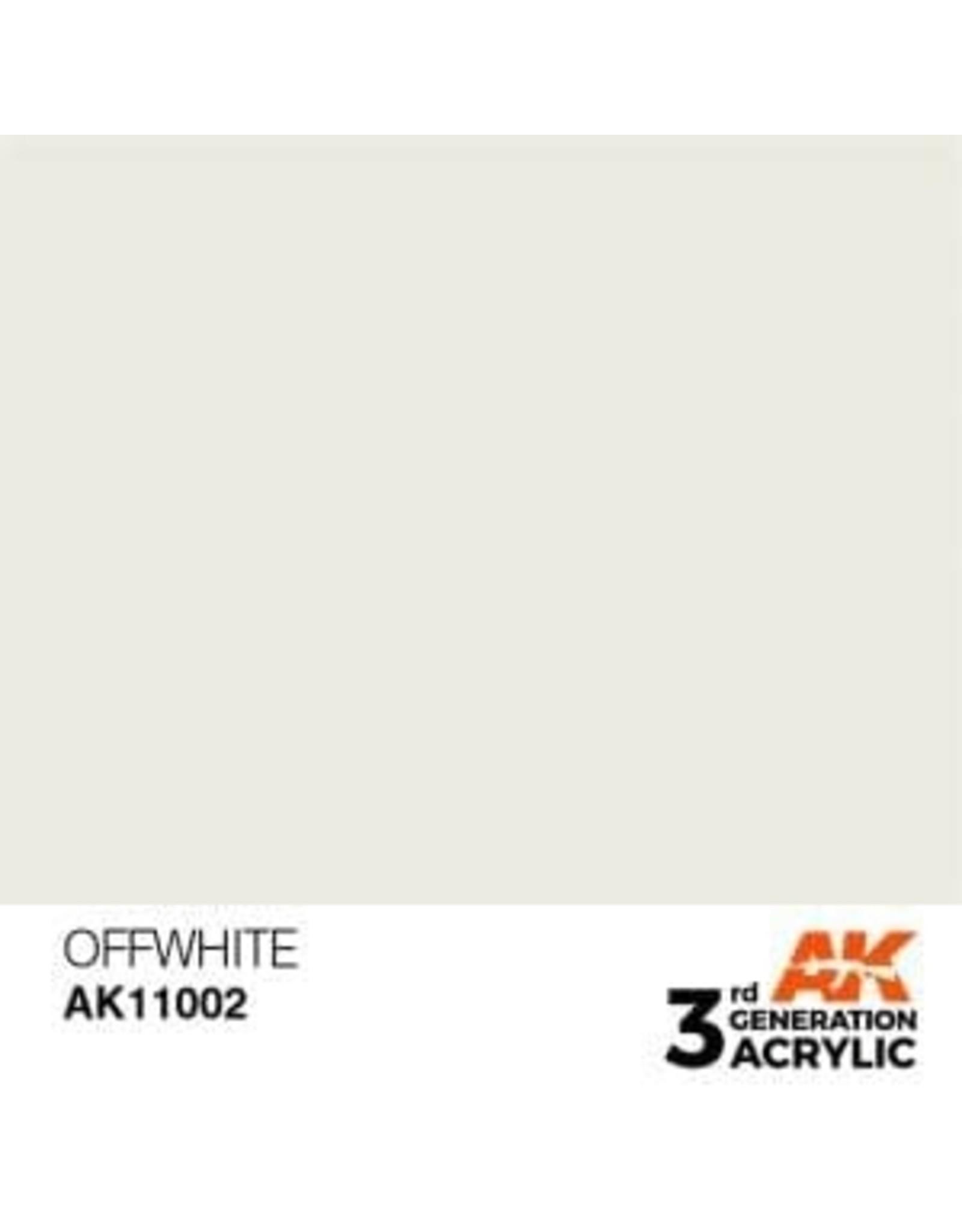 AK Interactive 3RD GEN ACRYLIC OFFWHITE 17ML