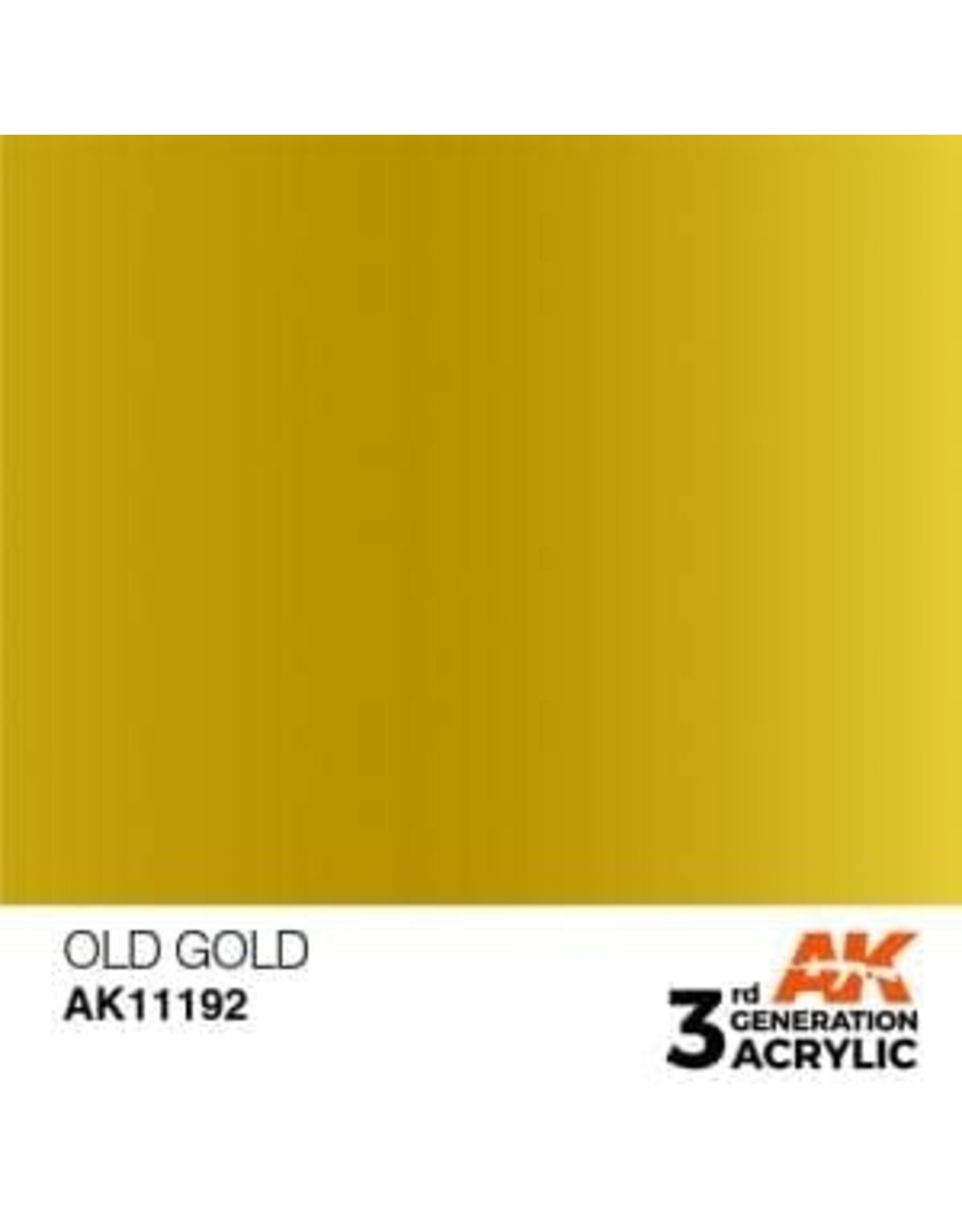 AK Interactive 3RD GEN ACRYLIC OLD GOLD 17ML
