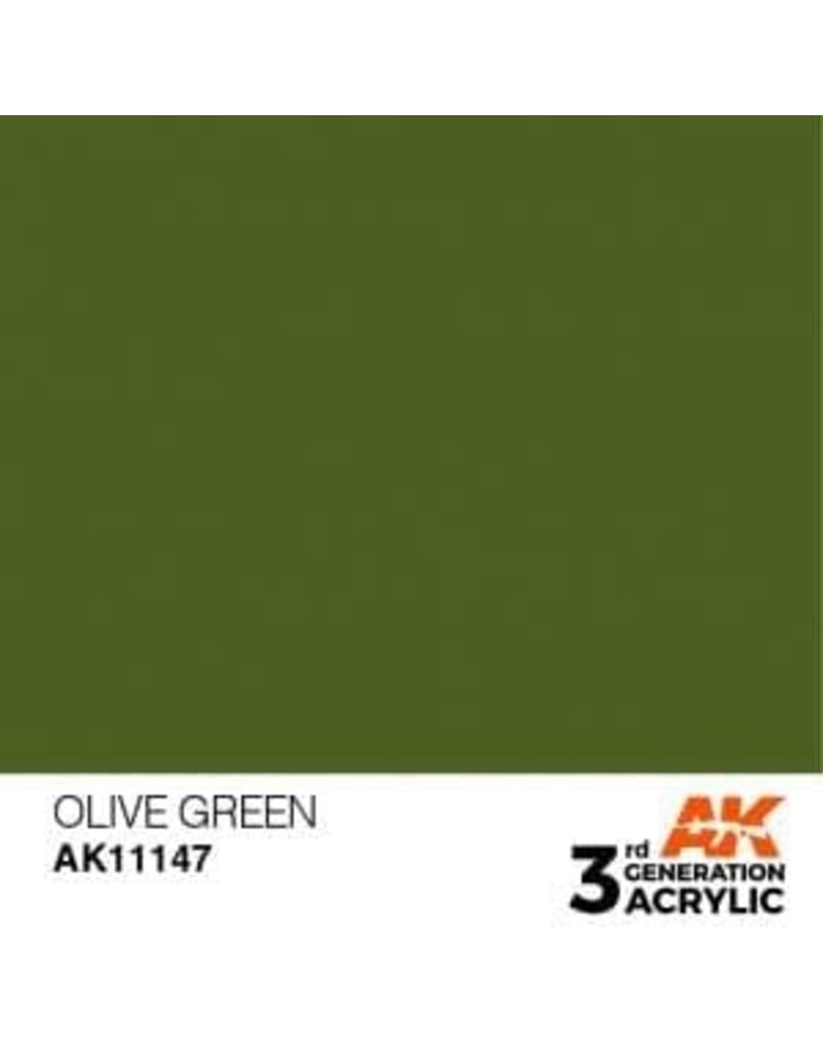 AK Interactive 3RD GEN ACRYLIC OLIVE GREEN 17ML