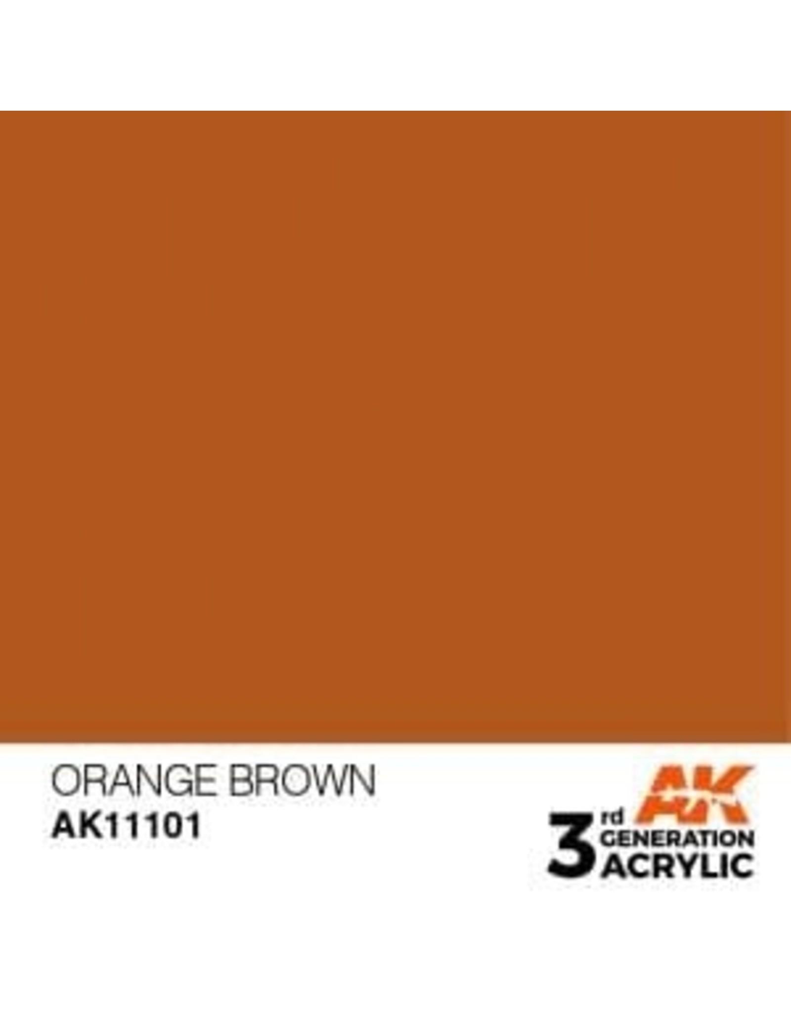 AK Interactive 3RD GEN ACRYLIC ORANGE BROWN 17ML