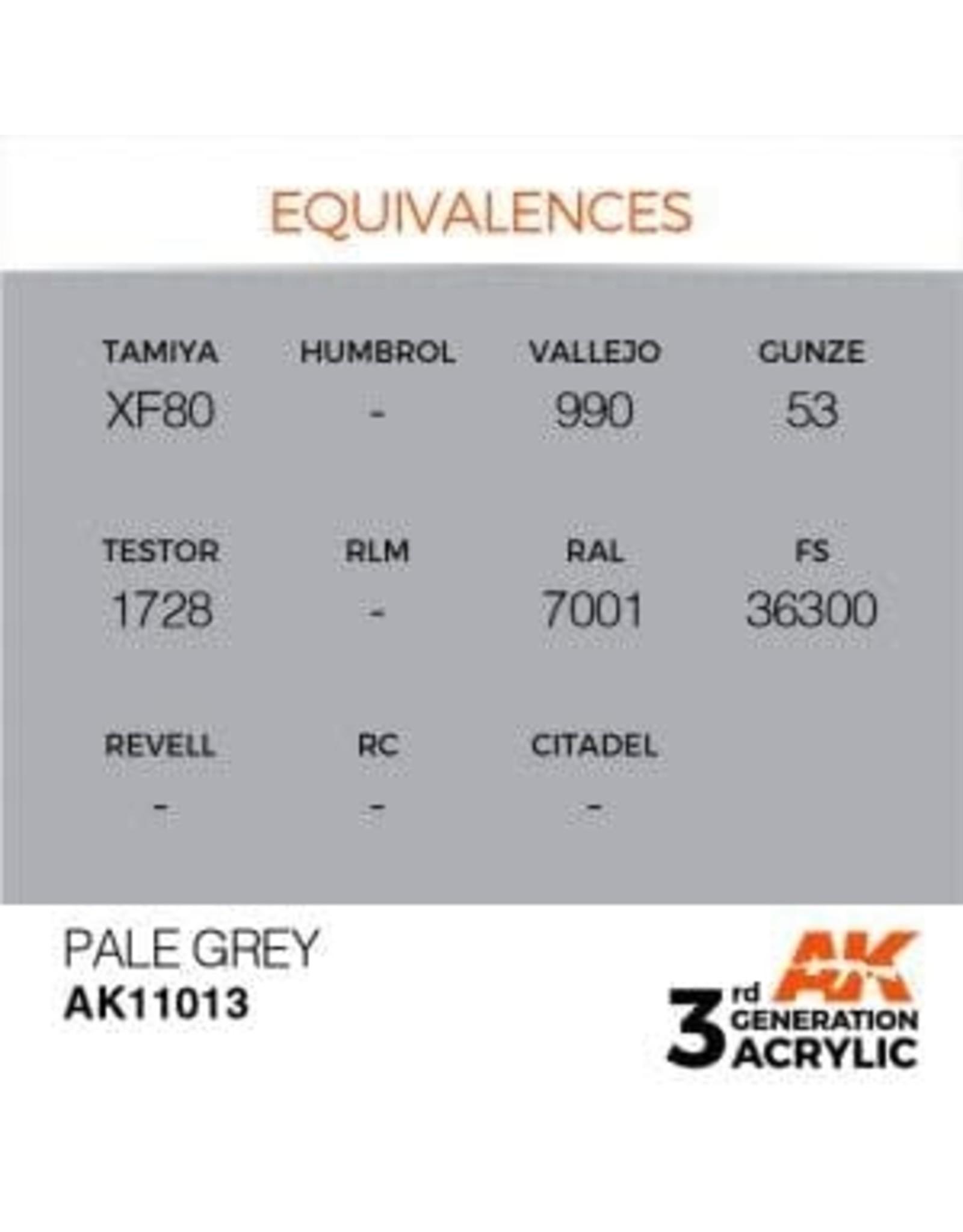 AK Interactive 3RD GEN ACRYLIC PALE GREY 17ML