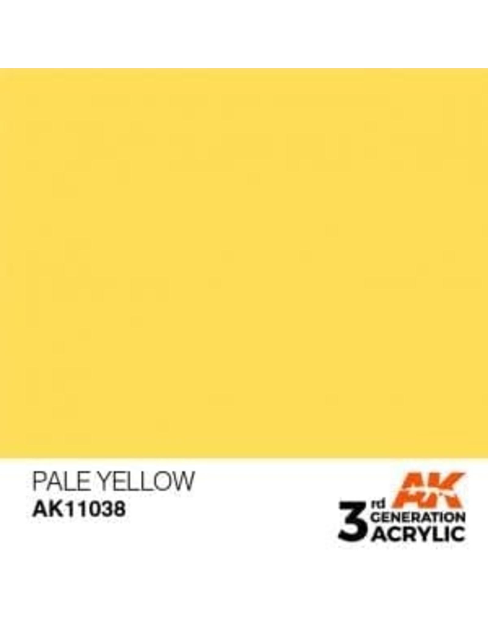 AK Interactive 3RD GEN ACRYLIC PALE YELLOW 17ML