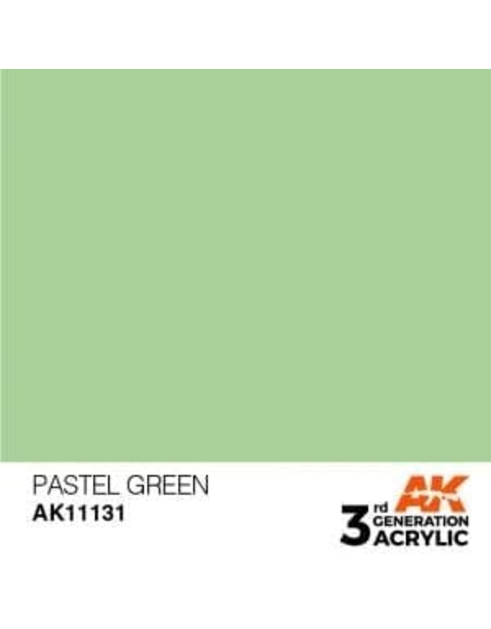 AK Interactive 3RD GEN ACRYLIC PASTEL GREEN 17ML