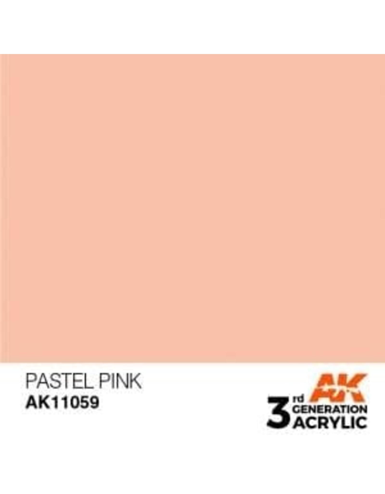 AK Interactive 3RD GEN ACRYLIC PASTEL PINK 17ML