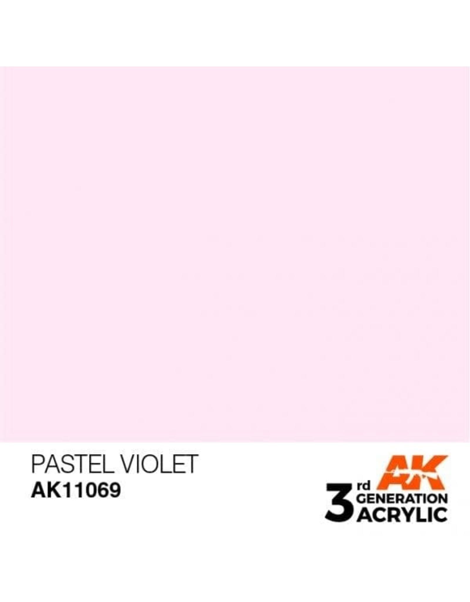 AK Interactive 3RD GEN ACRYLIC PASTEL VIOLET 17ML