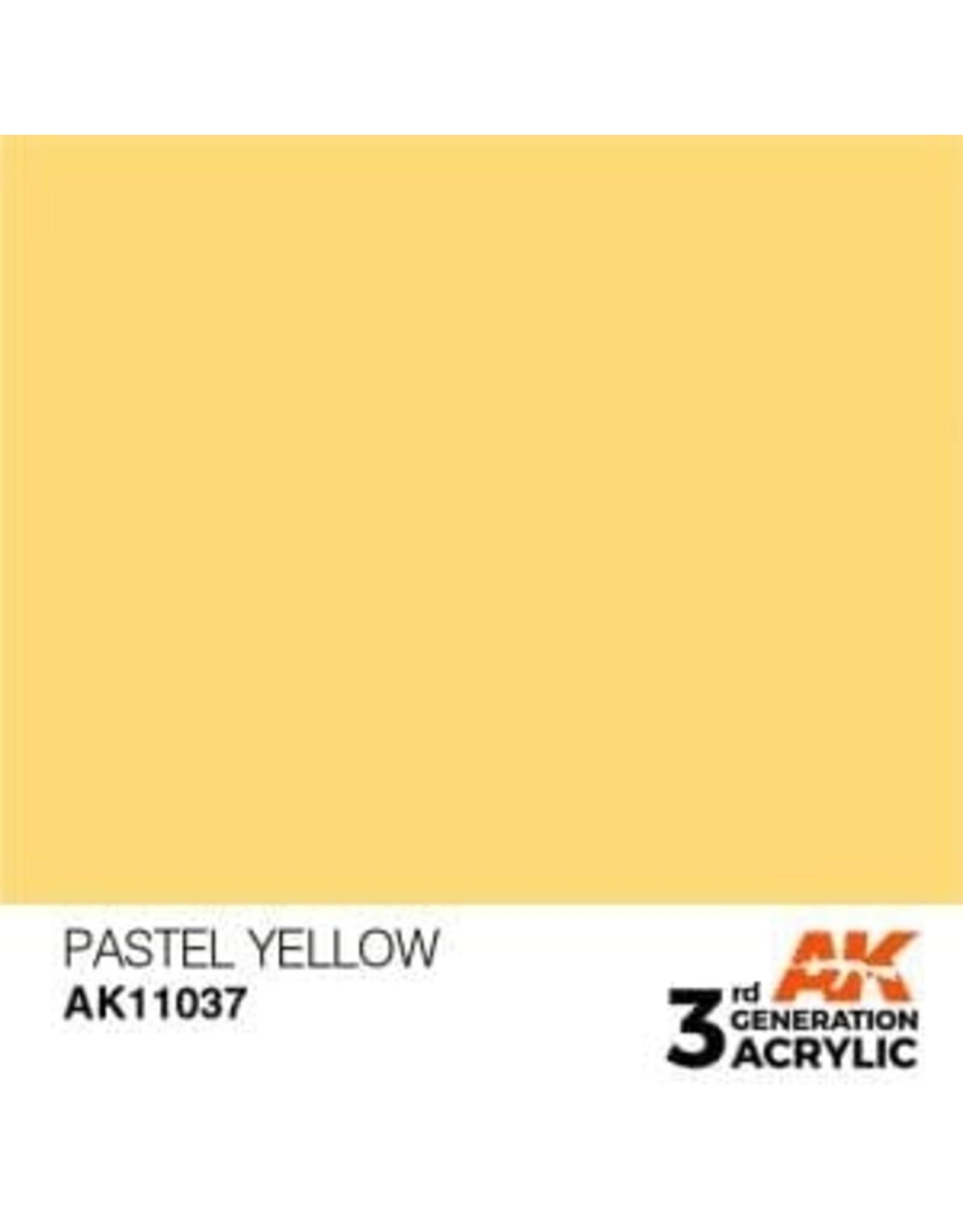 AK Interactive 3RD GEN ACRYLIC PASTEL YELLOW 17ML