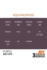 AK Interactive 3RD GEN ACRYLIC PURPLE 17ML