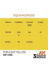 AK Interactive 3RD GEN ACRYLIC PURULENT YELLOW 17ML
