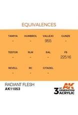 AK Interactive 3RD GEN ACRYLIC RADIANT FLESH 17ML
