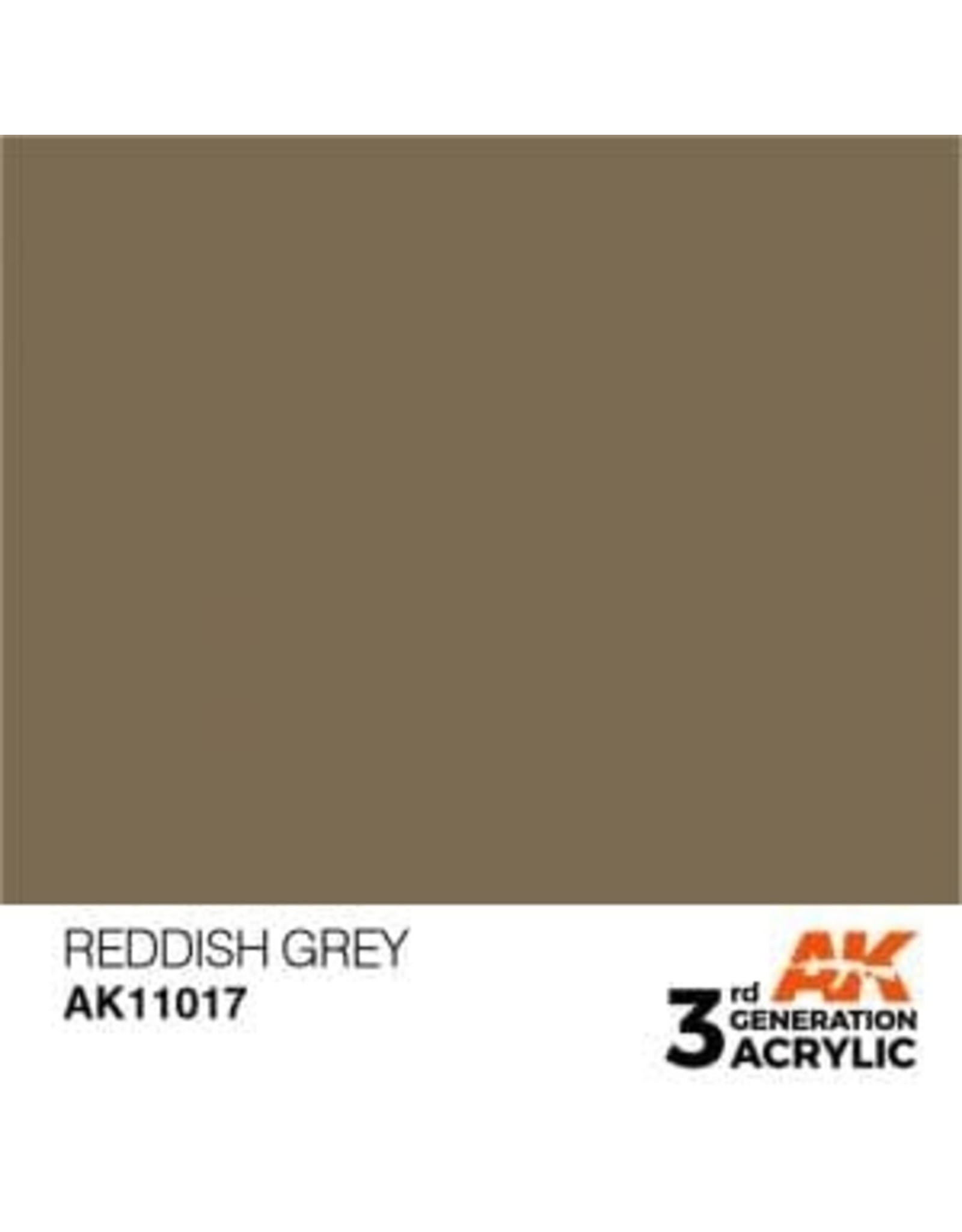 AK Interactive 3RD GEN ACRYLIC REDDISH GREY 17ML