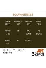 AK Interactive 3RD GEN ACRYLIC REFLECTIVE GREEN 17ML
