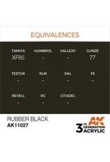 AK Interactive 3RD GEN ACRYLIC RUBBER BLACK 17ML