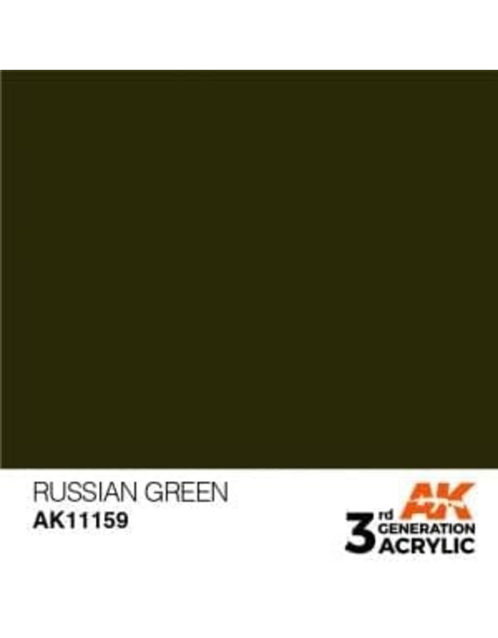 AK Interactive 3RD GEN ACRYLIC RUSSIAN GREEN 17ML