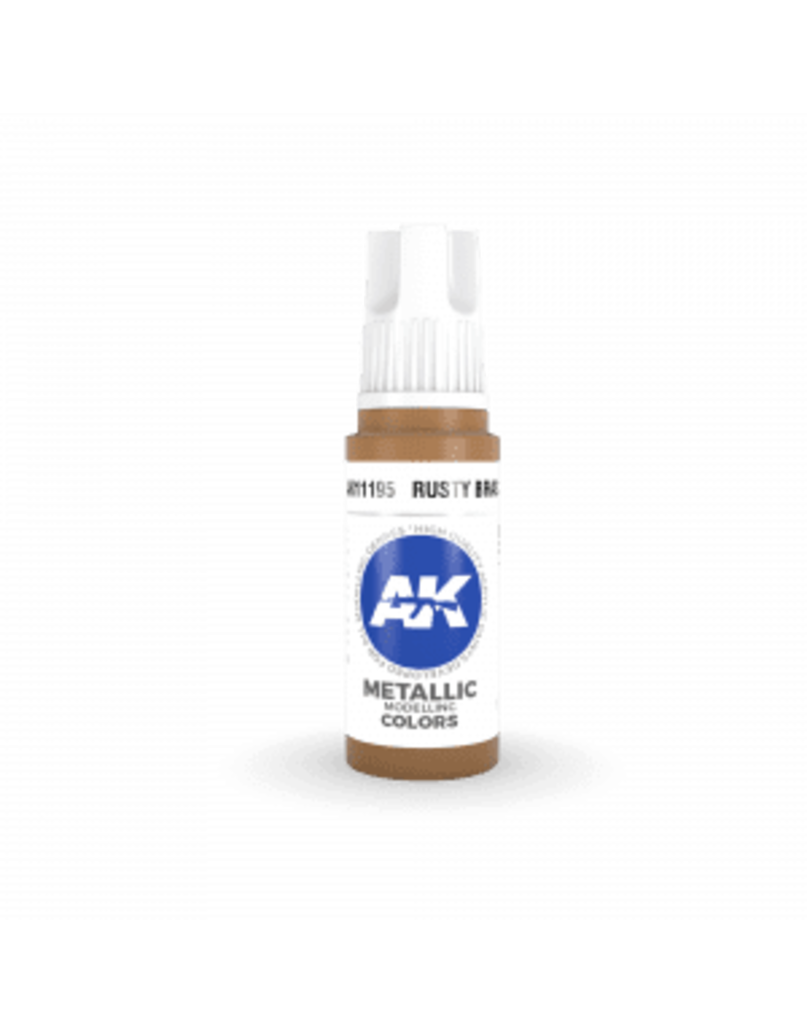 AK Interactive 3RD GEN ACRYLIC RUSTY BRASS 17ML