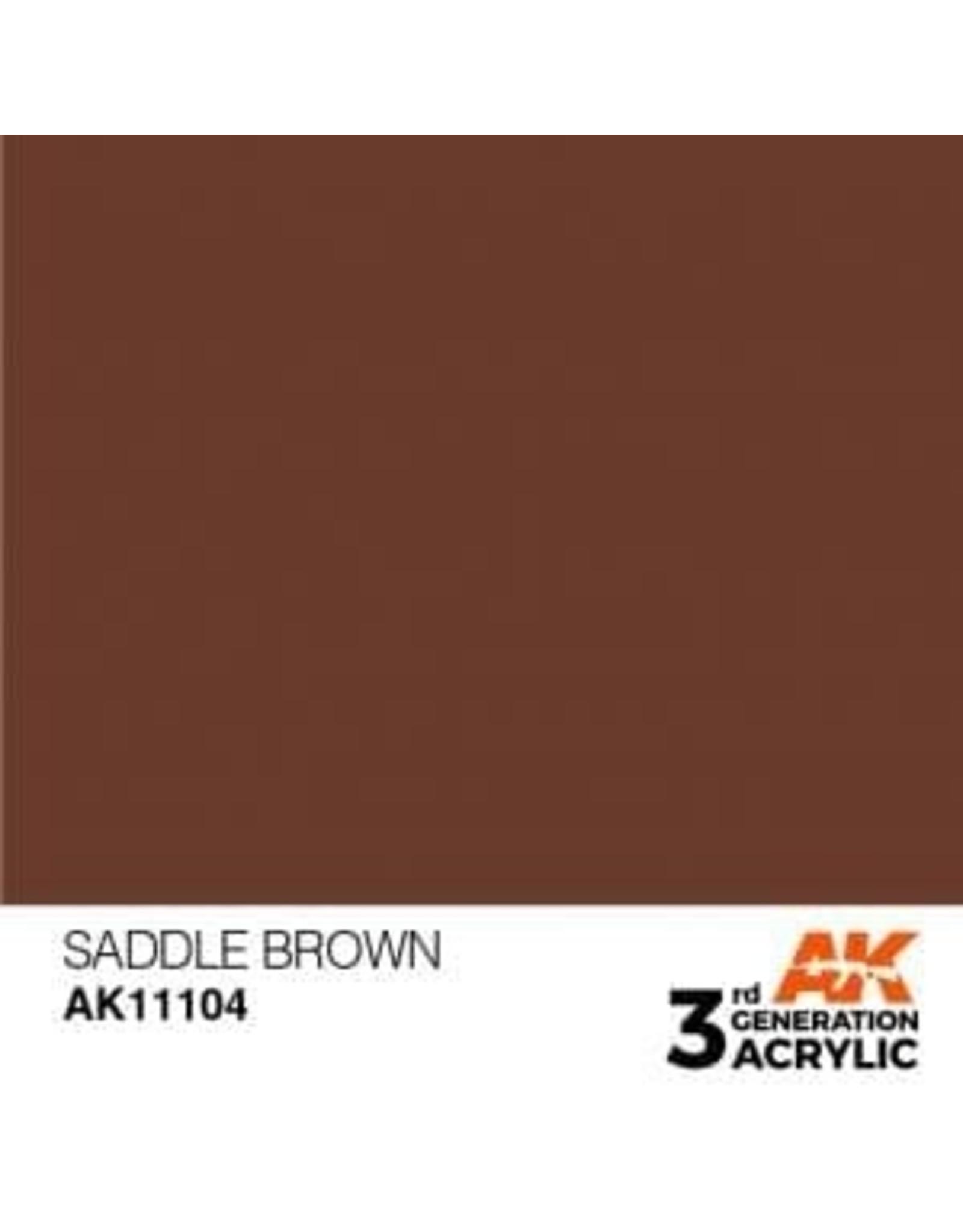 AK Interactive 3RD GEN ACRYLIC SADDLE BROWN 17ML