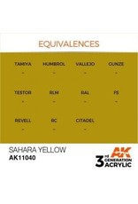 AK Interactive 3RD GEN ACRYLIC SAHARA YELLOW 17ML