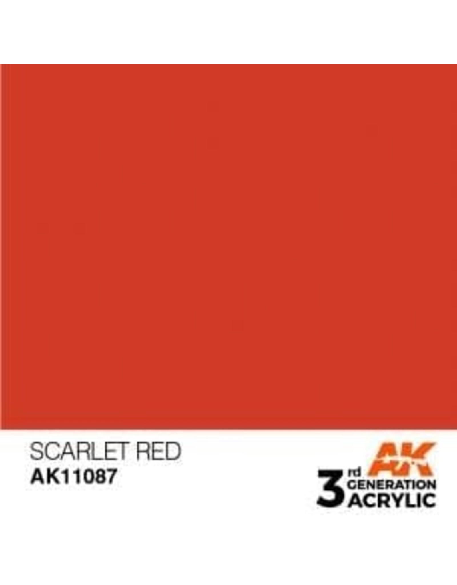 AK Interactive 3RD GEN ACRYLIC SCARLET RED 17ML